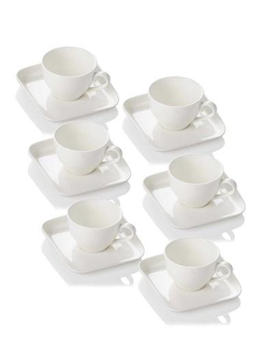 Acar Beyaz Porselen 6 Kişilik Çay Fincanı 220Ml Renkli